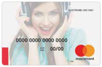 Virtual Mastercard® for entertainment downloads